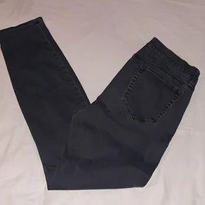 J. Crew Grey Gray Sateen Toothpick Pants Jeans 29